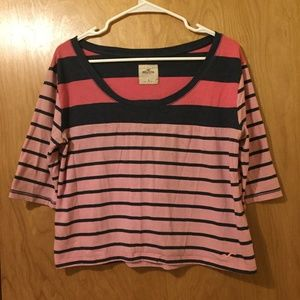 3/$25 Hollister Striped Crop Top